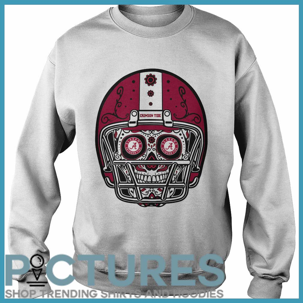 Skull helmet Alabama Crimson Tide Sweater