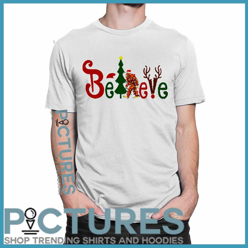 Believe Bigfoot Christmas Shirt