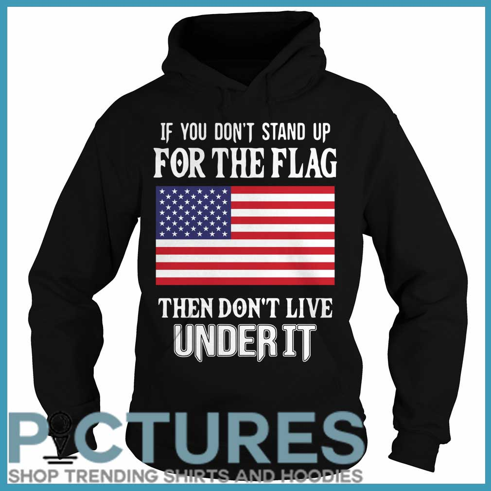 If you don't stand up for the flag they don't live under it Hoodie