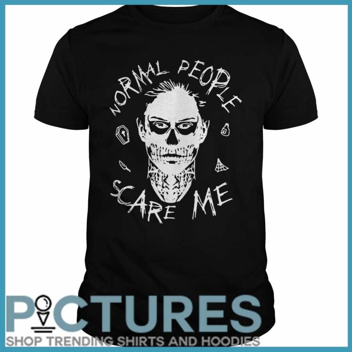 Evan Peters Normal people scare me Guys tee