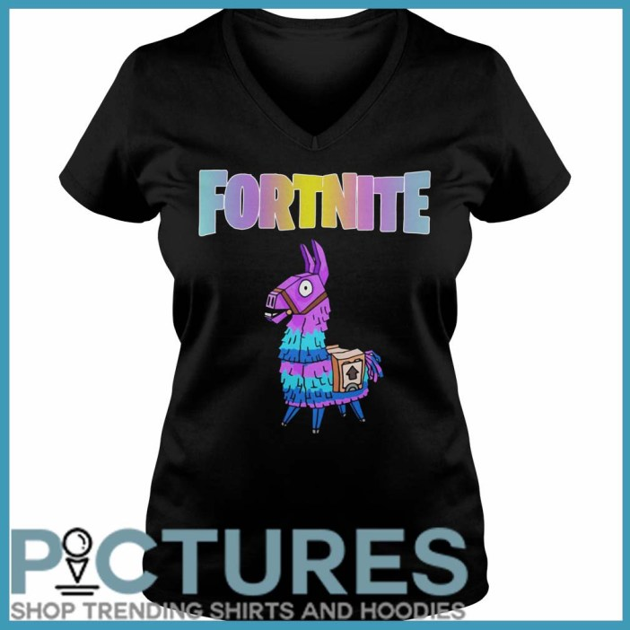 Fortnite Unicorn Llama V-neck