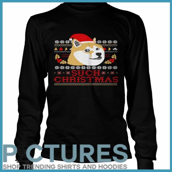 Shiba Inu Such Christmas Long Sleeve