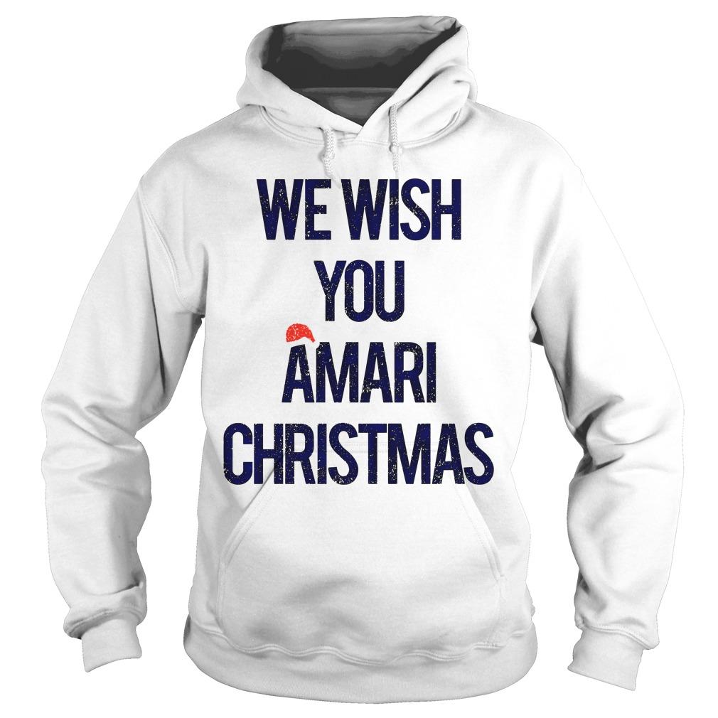 We wish you Amari Christmas hoodie