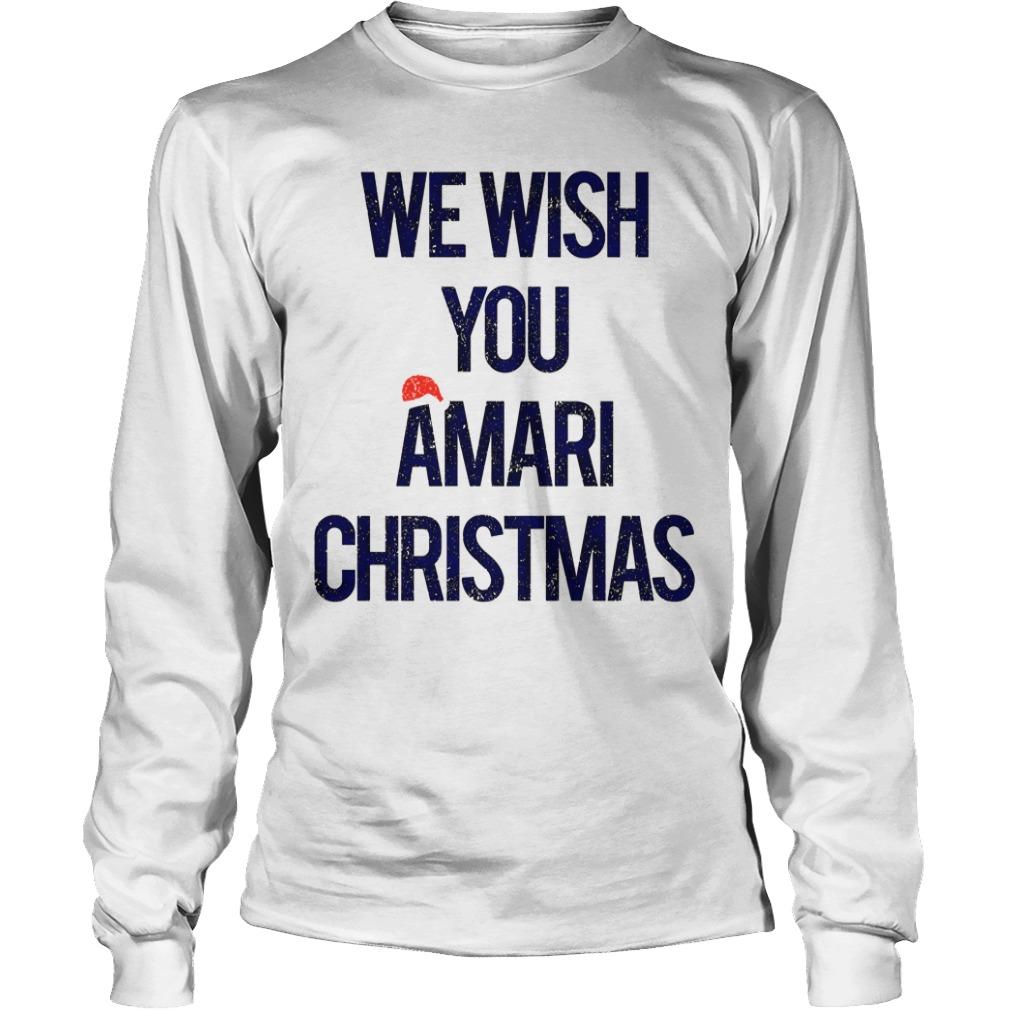 We wish you Amari Christmas long sleeve