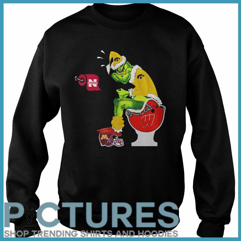 Santa Grinch Iowa Hawkeyes Toilet Sweatshirt