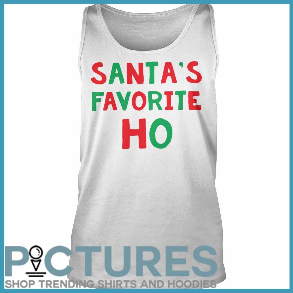 Santa's Favorite Ho Christmas tank top