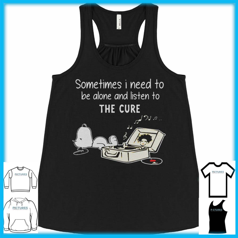 Snoopy Sometimes I need to be alone and listen to The Cure Flowy Tank