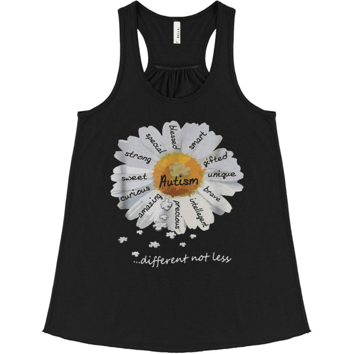 Autism different not less Wild daisies shirt 1