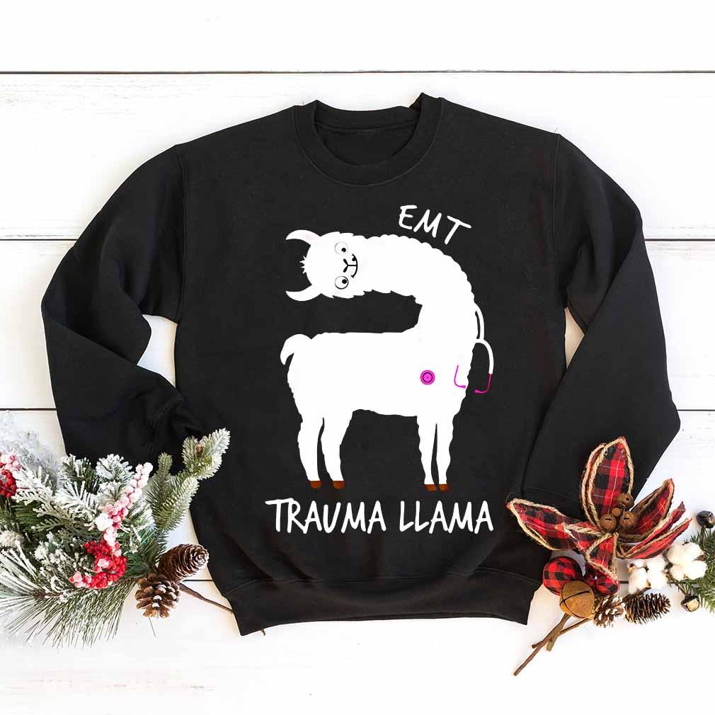EMT trauma llama shirt