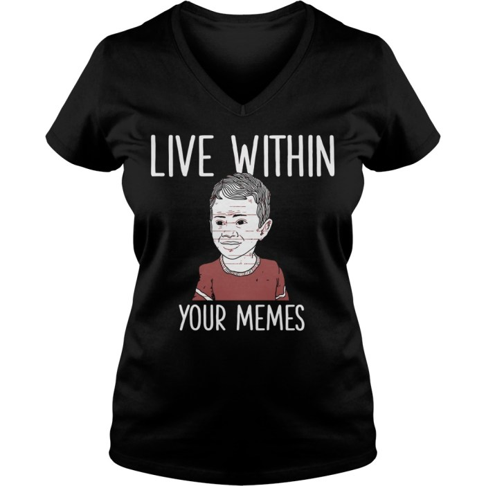 Live within your memes v-neck