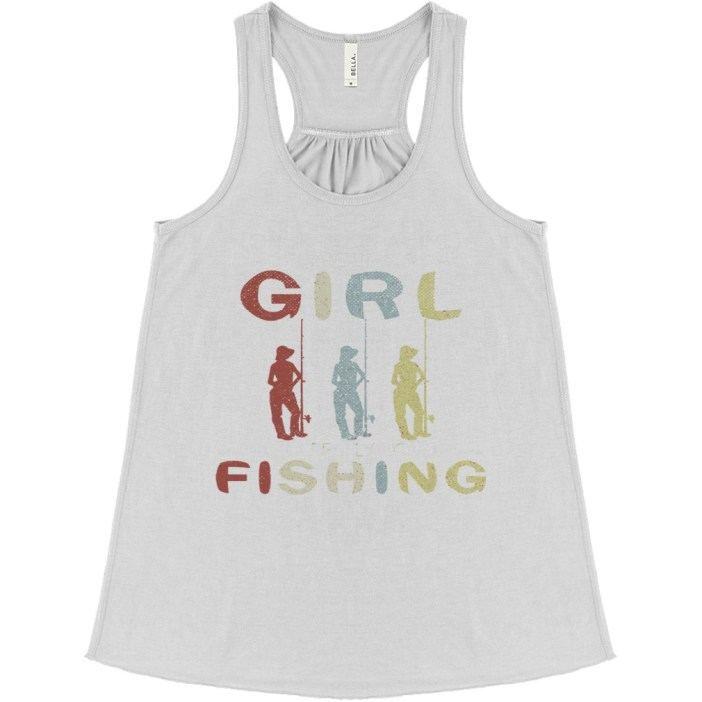 Once upon a time there was a girl who really loved fishing it was me the end flowy tank