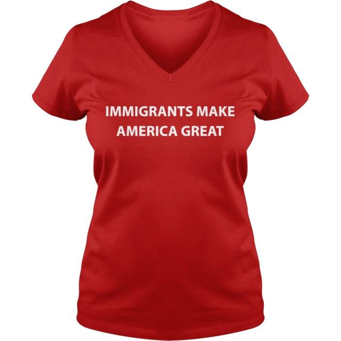 Immigrants make America great v-neck