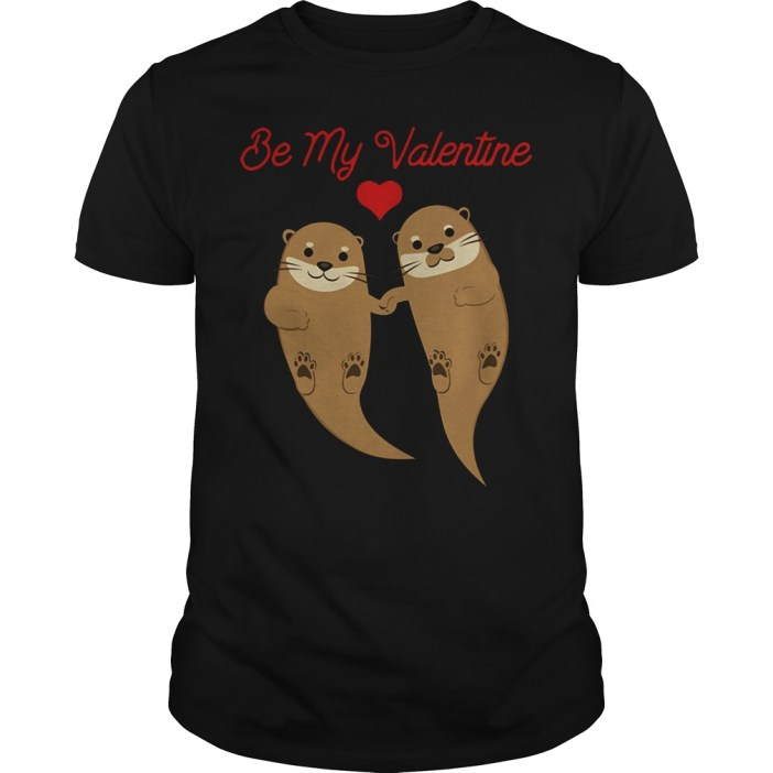 Otters Be My Valentine guys tee