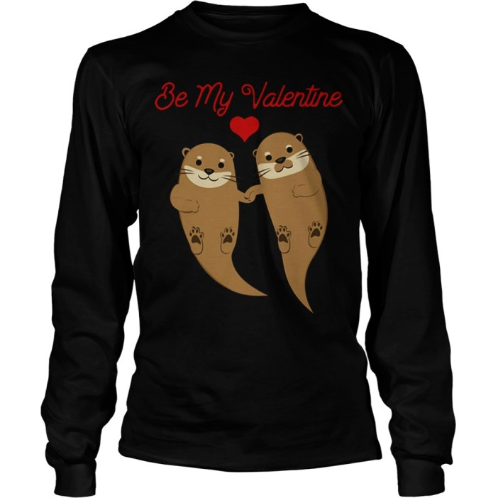 Otters Be My Valentine long sleeve