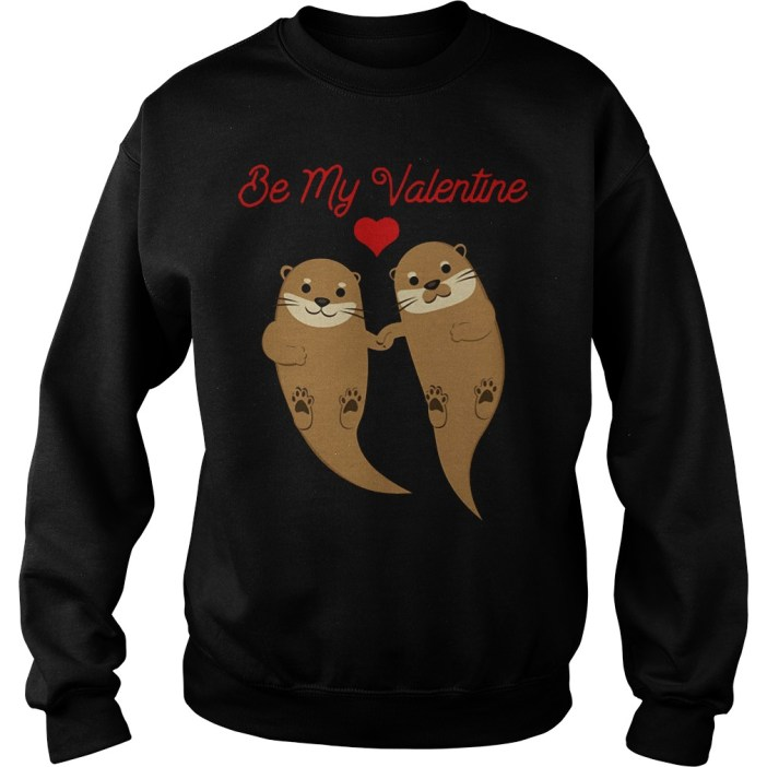 Otters Be My Valentine sweater