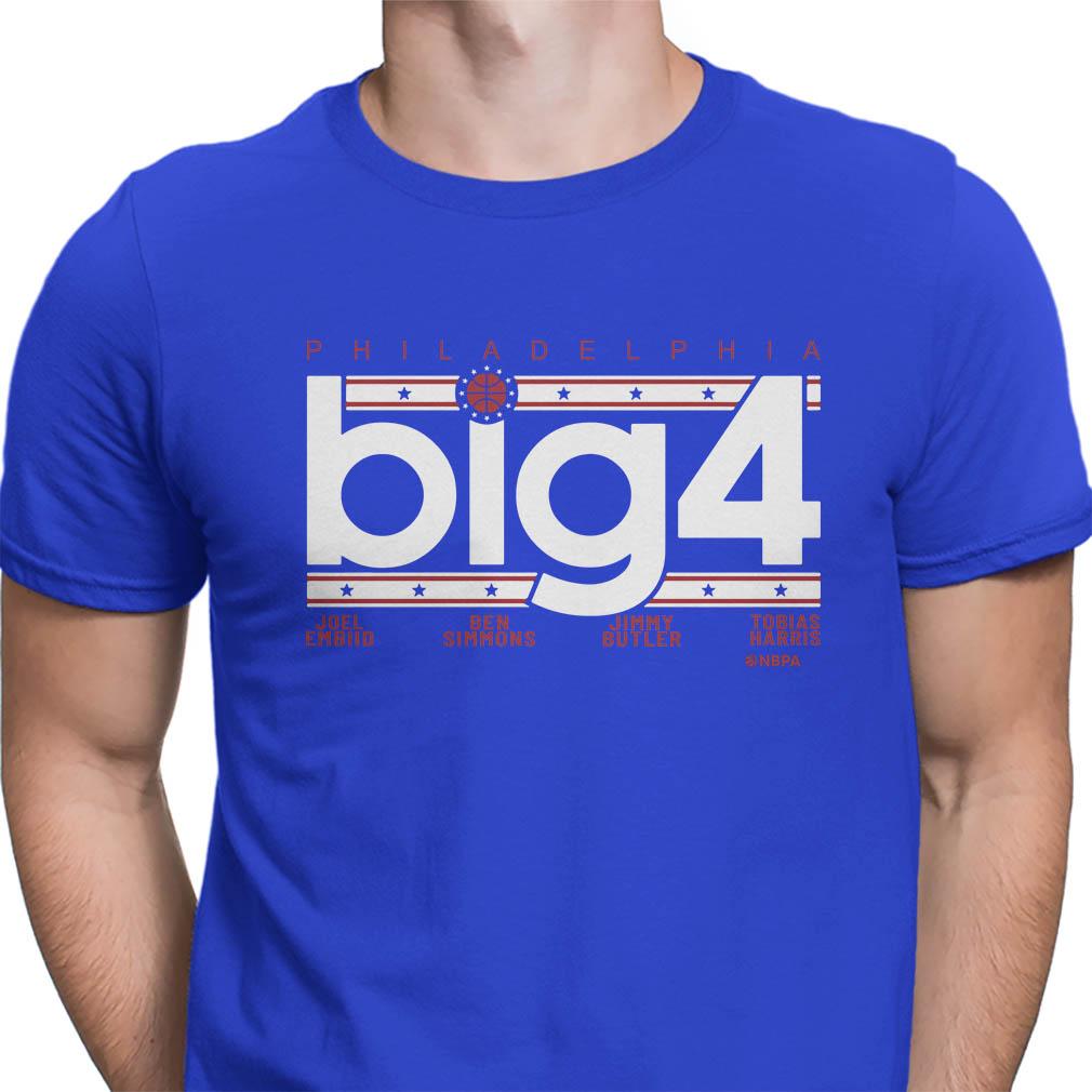 Philadelphia big 4 Tobias Harris Jimmy Butler Joel Embiid and Ben Simmons shirt