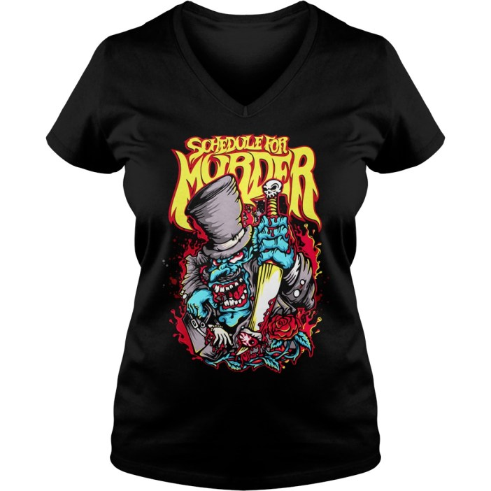 Schedule for Murder v-neck