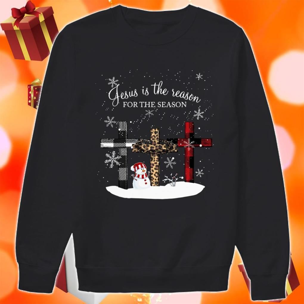Jesus is the reason for the season cross Christmas sweater