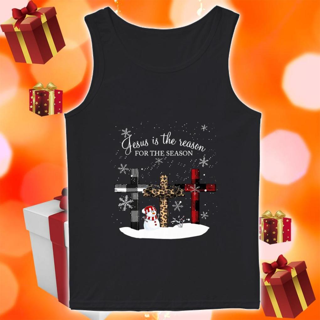Jesus is the reason for the season cross Christmas tank top