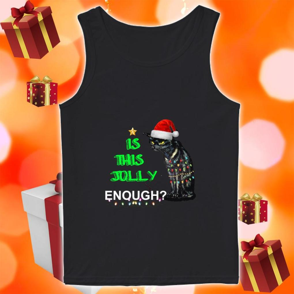 Is this Jolly enough black cat Christmas tank top
