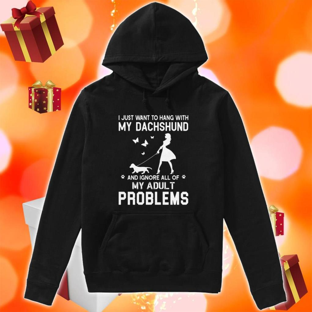 I just want to hang with my dachshund my adult problems hoodie