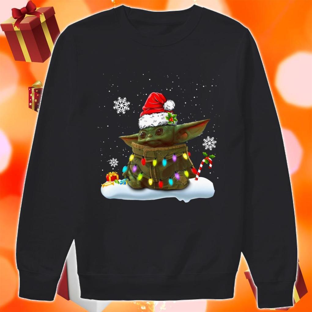 Baby Yoda Merry Christmas sweater