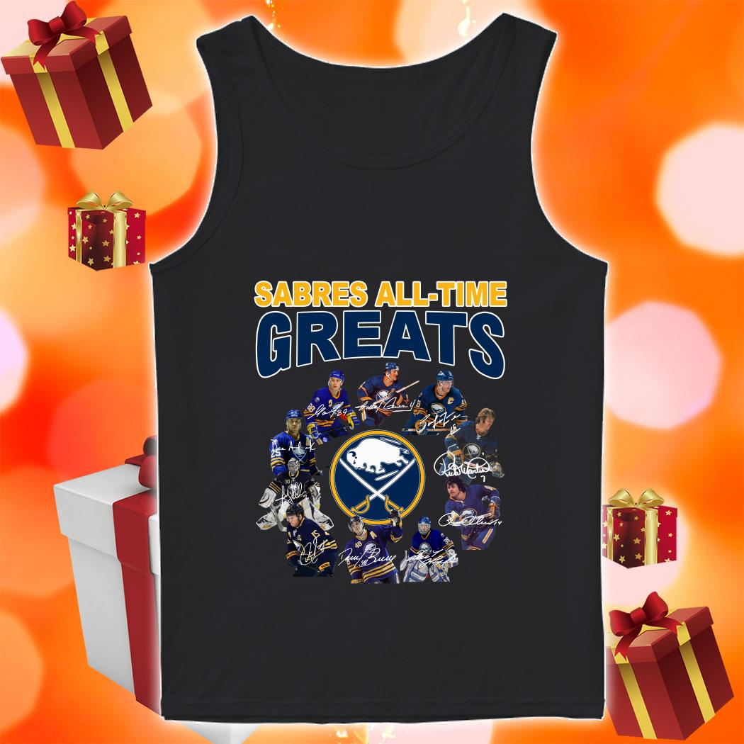 Buffalo Sabres All-time Greats signatures tank top