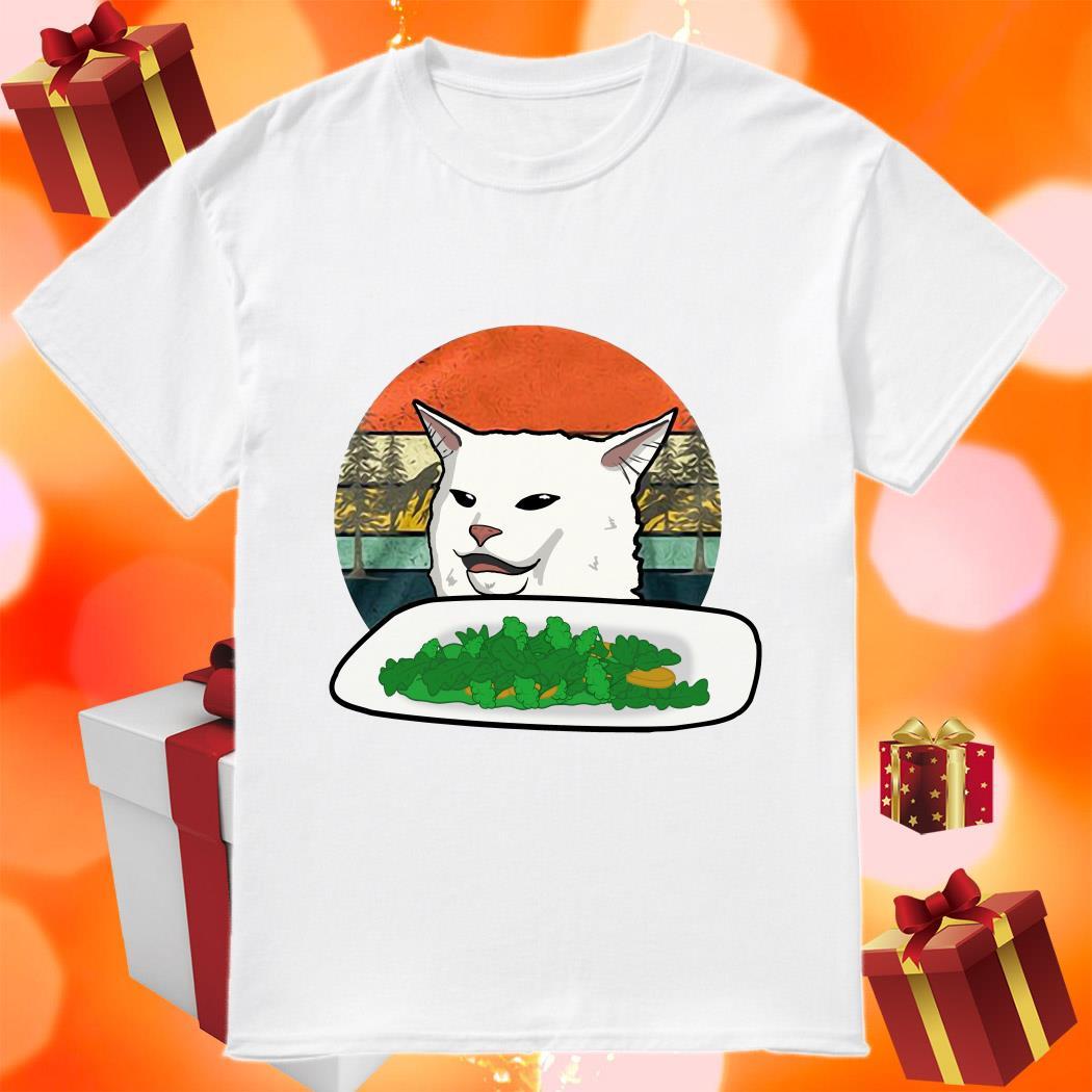 Cat At Dinner Table Meme shirt