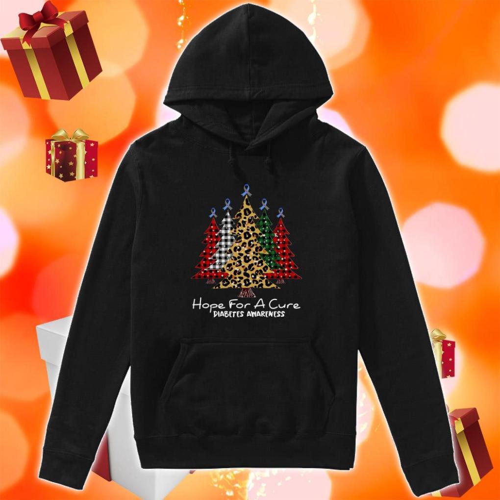 Christmas Tree Plaid Hope for a cure diabetes Awareness hoodie
