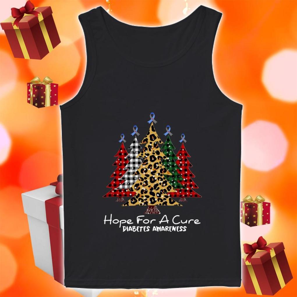 Christmas Tree Plaid Hope for a cure diabetes Awareness tank top