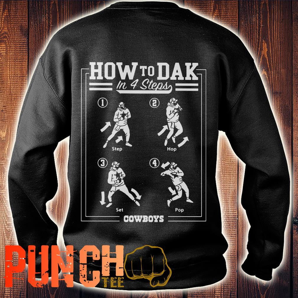 Cowboys How To DAK In 4 Steps sweater