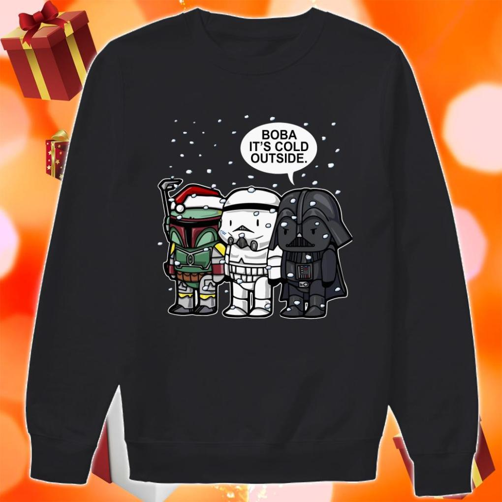 Darth Vader Boba it's cold outside Christmas sweater