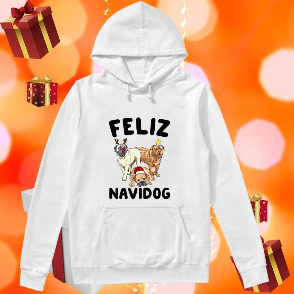 Feliz Navidog Bullmastiff Dog Christmas hoodie