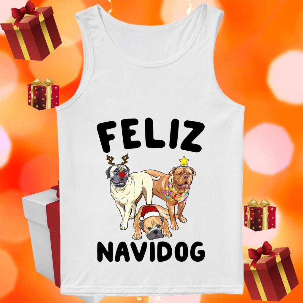 Feliz Navidog Bullmastiff Dog Christmas tank top