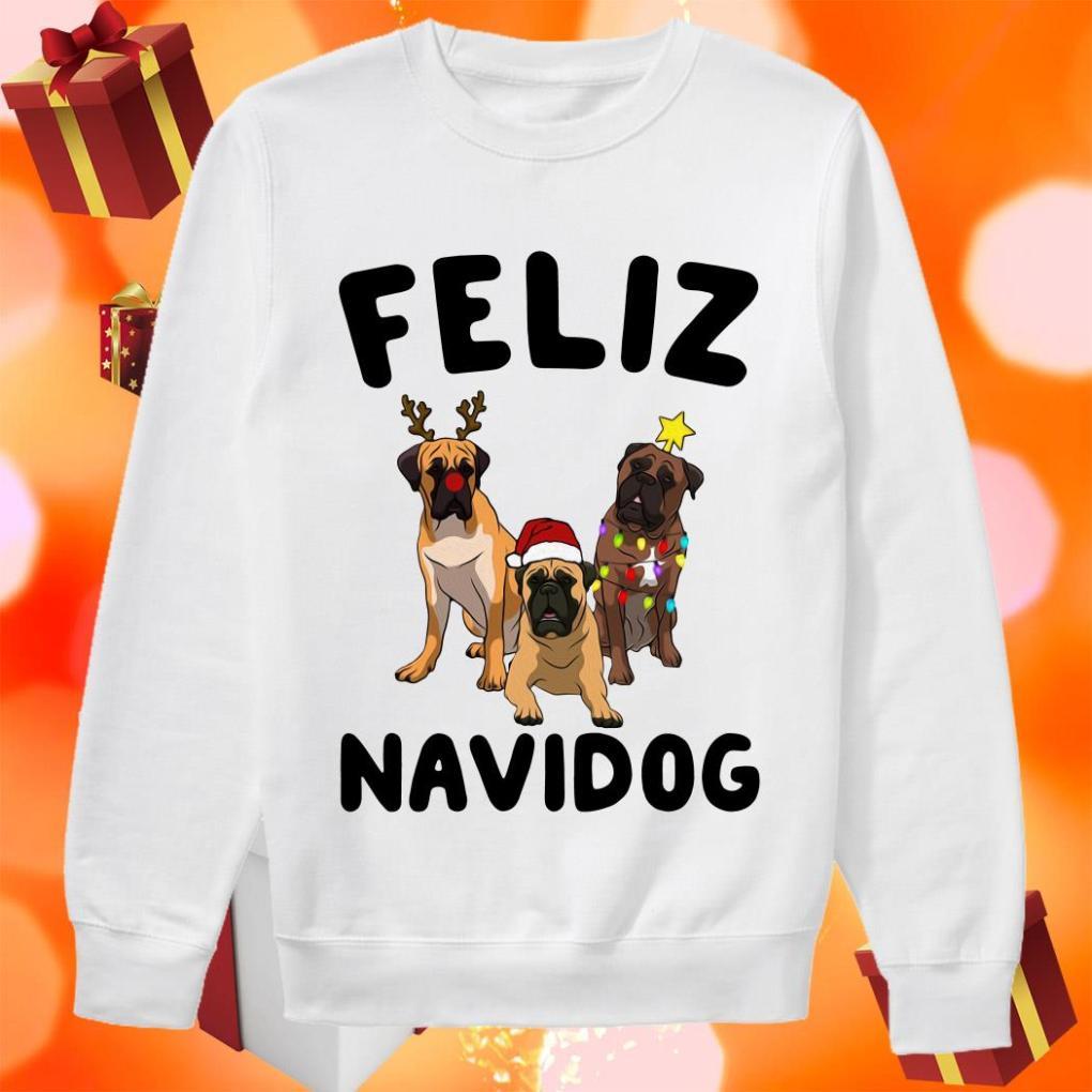 Feliz Navidog English Mastiff Christmas sweater