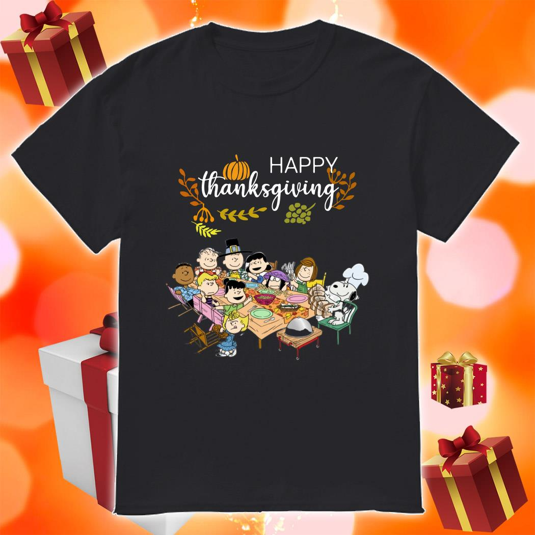 Happy Thanksgiving Peanuts Party shirt