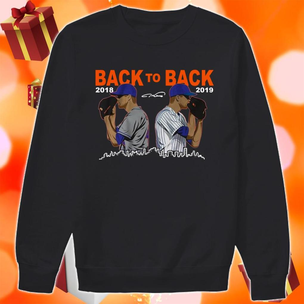 Jacob deGrom Back To back 2018 2019 sweater