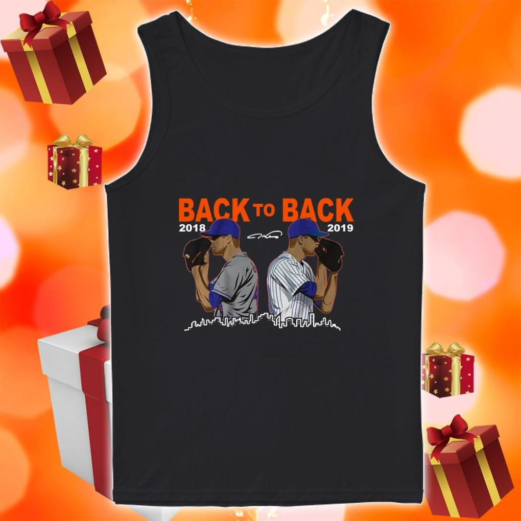 Jacob deGrom Back To back 2018 2019 tank top