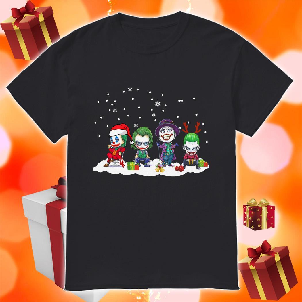 Joker character chibi Merry Christmas shirt