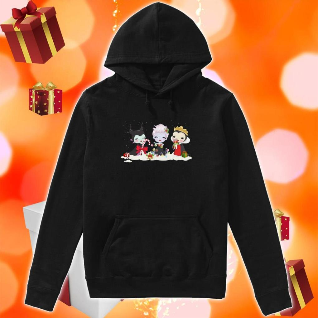 Maleficent and Evil Queen and Ursula Merry Christmas hoodie