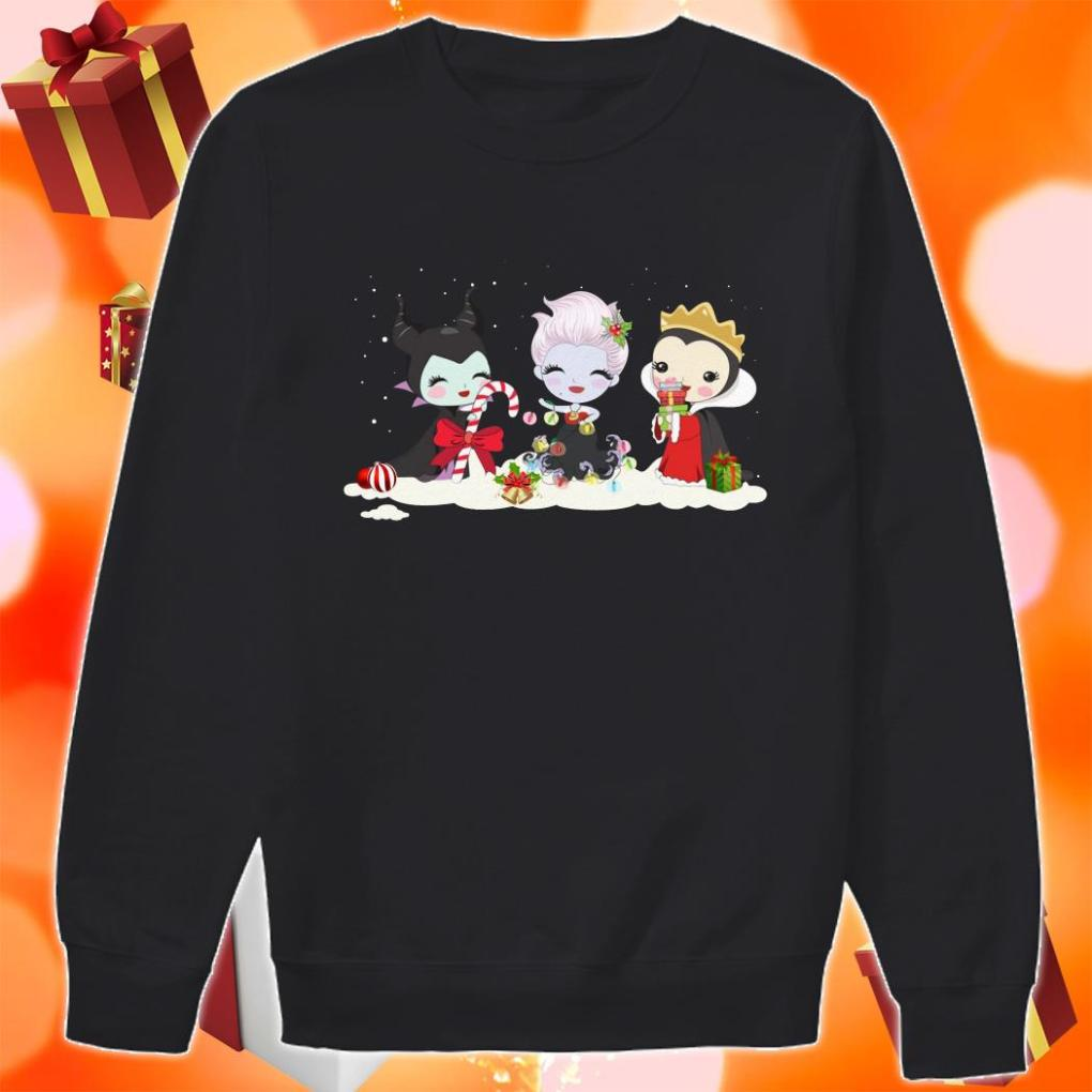 Maleficent and Evil Queen and Ursula Merry Christmas sweater