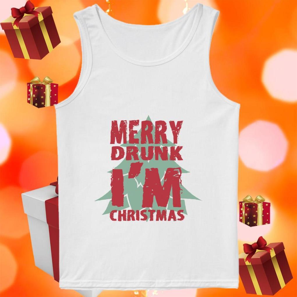 Merry Drunk I'm Christmas tank top