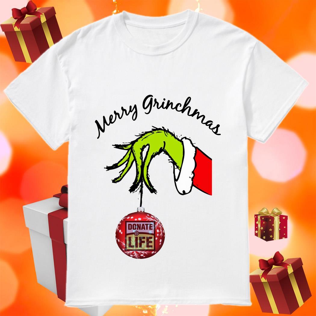 Merry Grinchmas Donate Life shirt