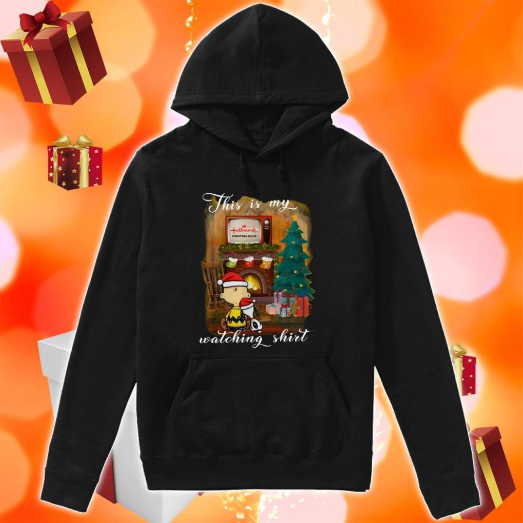Peanut Snoopy This is my Hallmark Christmas movie watching hoodie