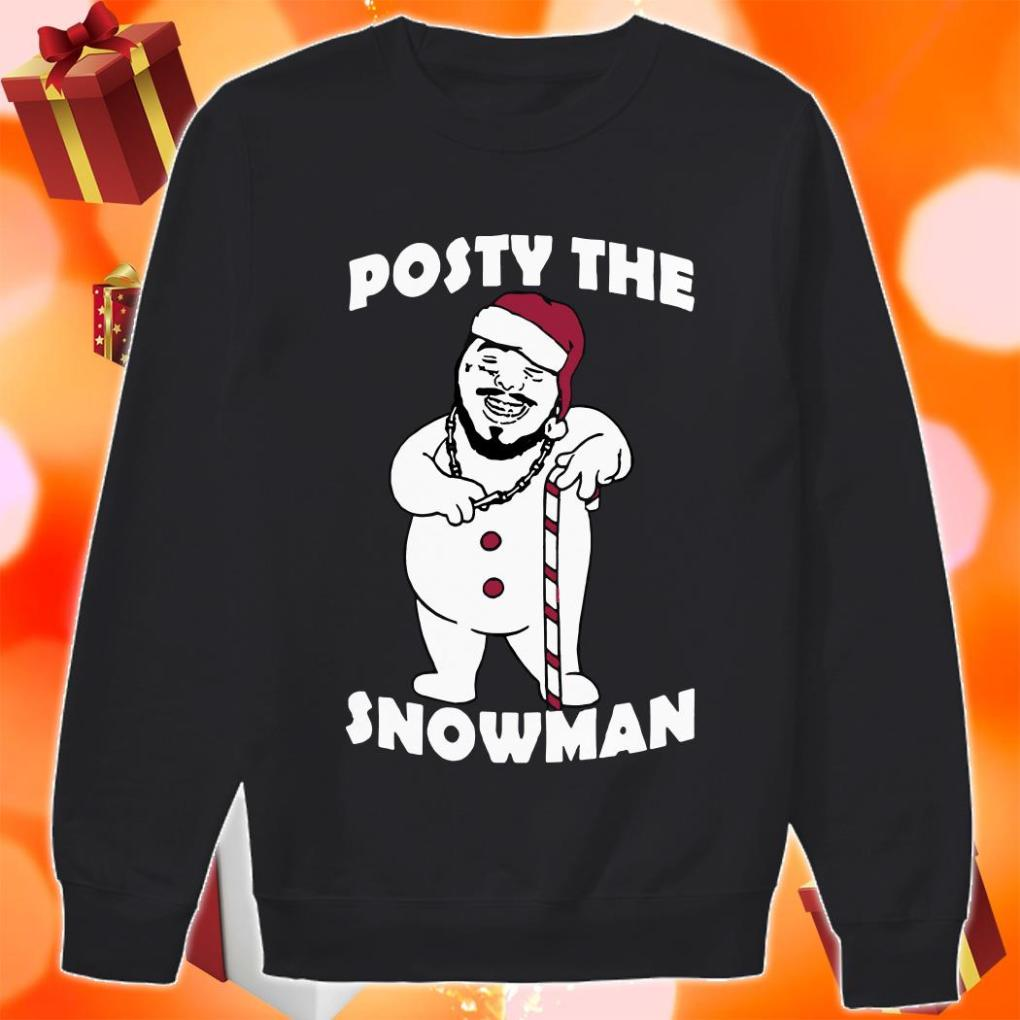 Posty the Snowman sweater