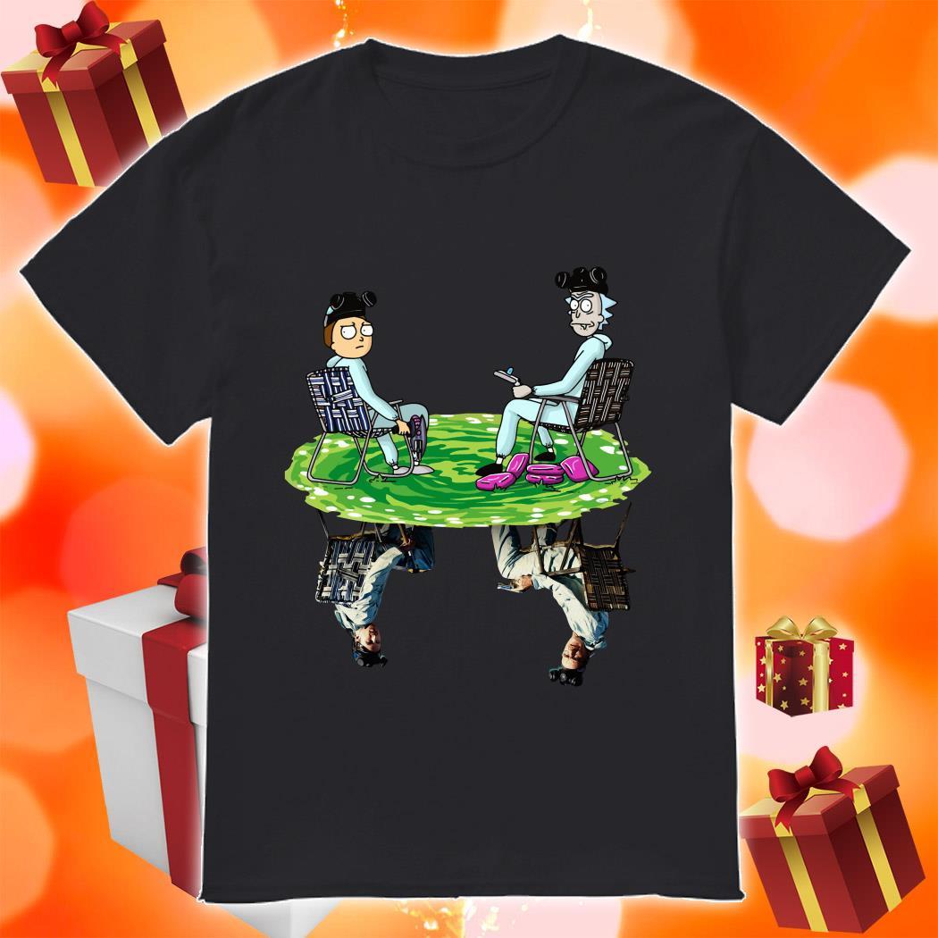 Rick and Morty reflection Breaking Bad shirt