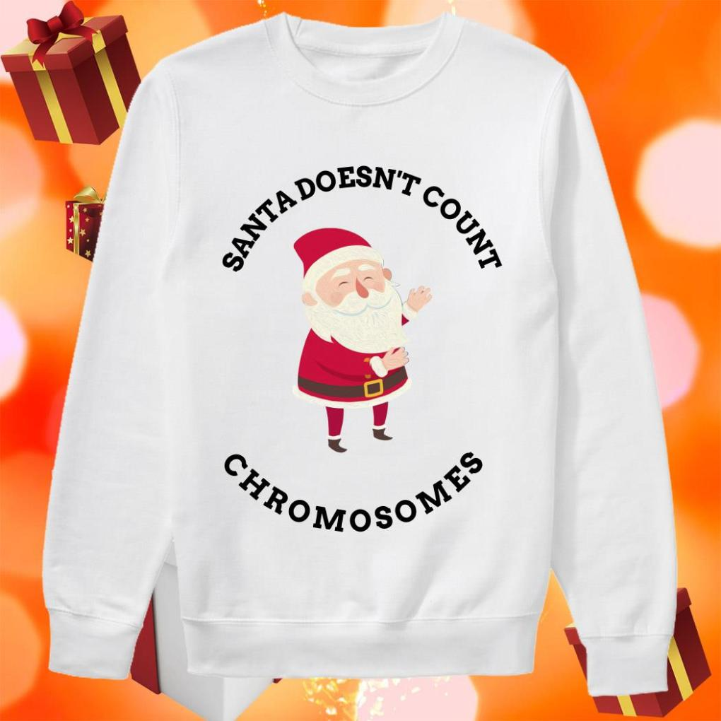 Santa Doesn't Count Chromosomes sweater