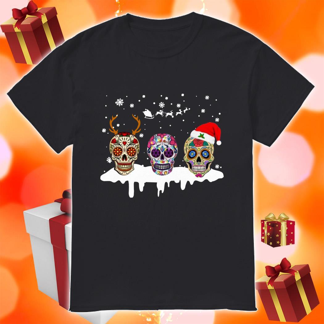 Skulls Tattoos Merry Christmas shirt