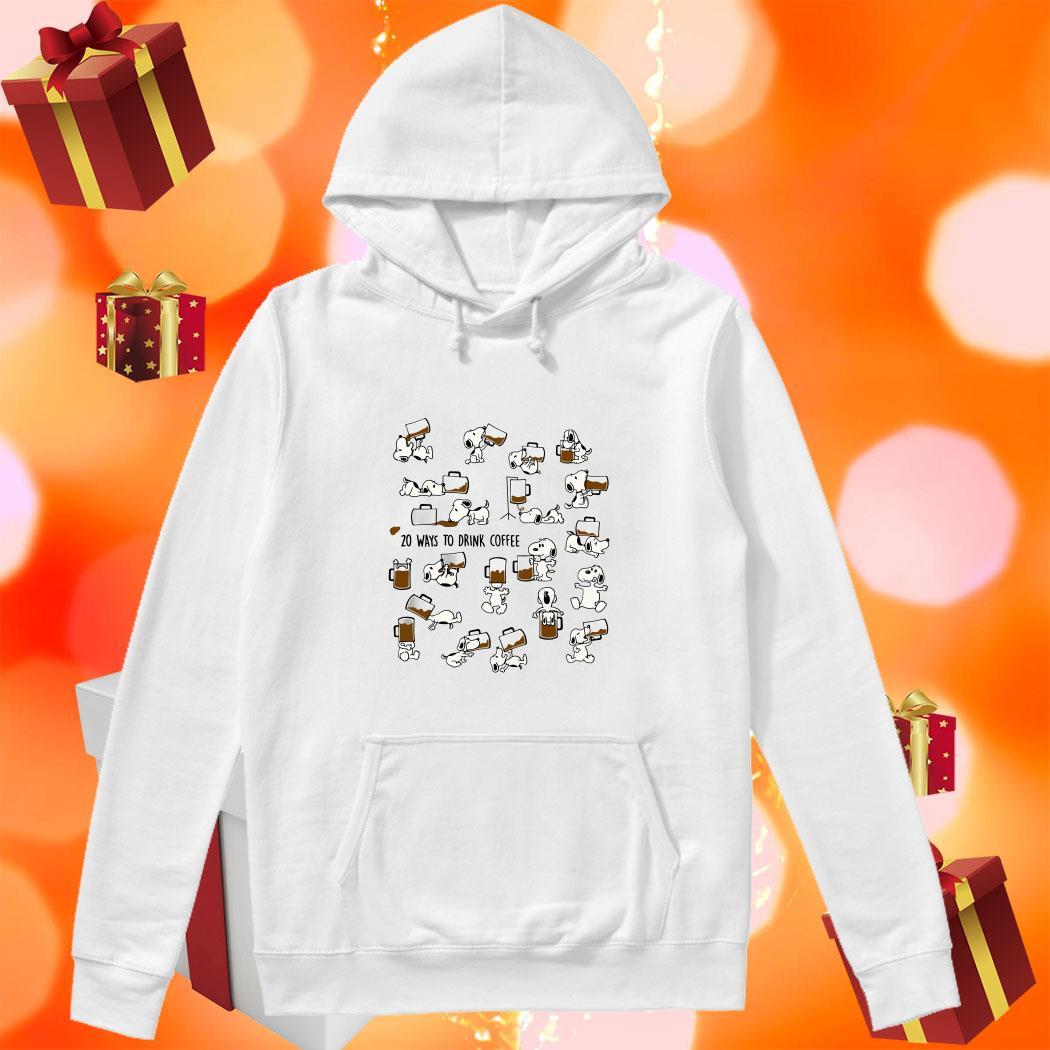 Snoopy 20 ways to drink Coffee hoodie