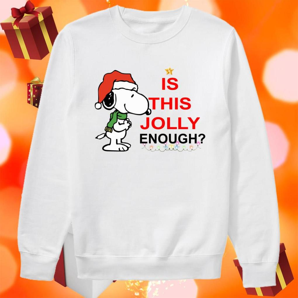 Snoopy is this Jolly enough Christmas sweater